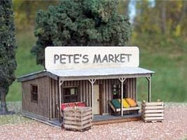 Osborn Petes Produce Stand (wooden kit) N Scale Model Railroad Building Kit #3062