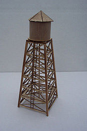 Osborn Water Tower Kit N Scale Model Railroad Building Kit #3066(wooden kit)