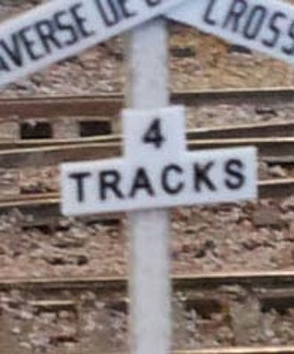 Osborn Model Kits Crossbuck Track Numbers -- N Scale Model Railroad Trackside Accessory -- #3085