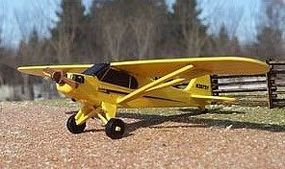 Osborn Piper J-3 Cub (wooden kit) N Scale Model Railroad Vehicle #3089