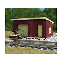 Osborn Maintenance of Way Shed (Wooden Kit) N Scale Model Railroad Building Kit #3108