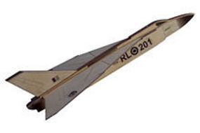 Osborn CF-105 Arrow Wooden Plane Kit 1/100 Scale #6000