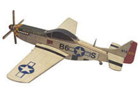 Osborn P-51D Mustang Wooden Plane Kit 1/66 Scale #6019