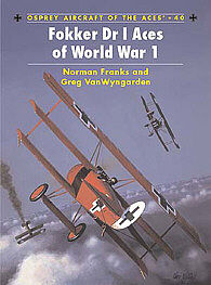 Osprey Publishing Fokker Dr I Aces of WWI -- Military History Book -- #ace40