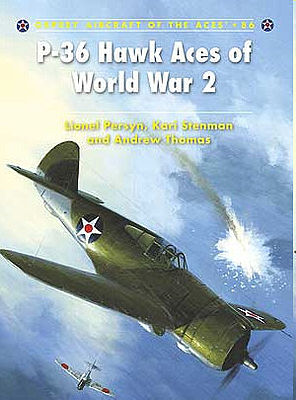 Osprey Publishing P-36 Hawk Aces of WWII -- Military History Book -- #ace86
