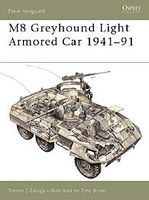 Osprey-Publishing M8 Greyhound Light Armoured Car 1941-91 Military History Book #nvg53