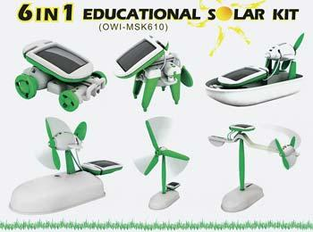 OWI Inc. 6 In 1 Educational Solar Kit