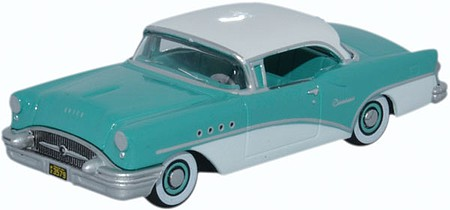 Oxford 1955 Buick Century - Assembled Turquoise, Polo White