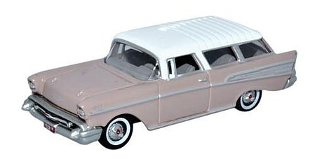 Oxford 1957 Chevrolet Nomad 2 Door Station Wagon - Assembled Dusk Pearl, Imperial Ivory