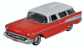 Oxford 1957 Chevrolet Nomad 2 Door Station Wagon Assembled Red, White
