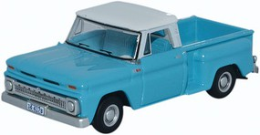Oxford 1965 Chevrolet Stepside Pickup Light Blue, White HO Scale Model Railroad Vehicle #87cp65001