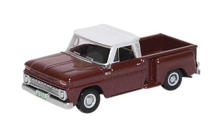 Oxford 1965 Chevrolet Stepside Pickup - Assembled Maroon Metallic