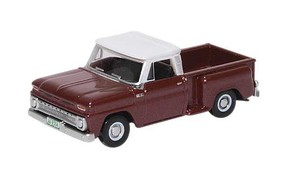 Oxford 1965 Chevrolet Stepside Pickup Assembled Maroon Metallic