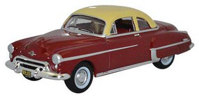 Oxford 1950 Oldsmobile Rocket 88 Assembled Red, Cream
