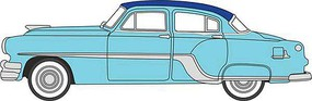 Oxford 1954-1965 Pontiac Chieftain 4-Door Sedan Assembled Mayfair Blue, San Marino Blue