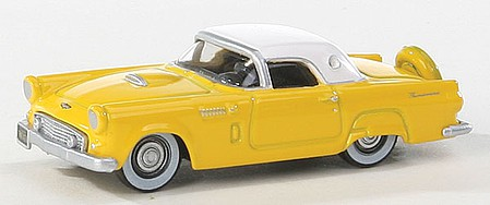 Oxford Diecast USA Thndrbrd 1956 Ylw/Wht - HO-Scale