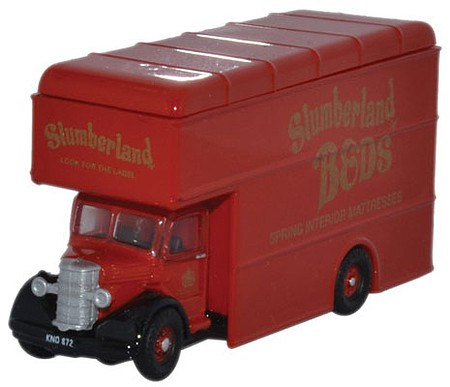Oxford Bedford Pantechnicon Truck - Assembled Slumberland Beds - N-Scale