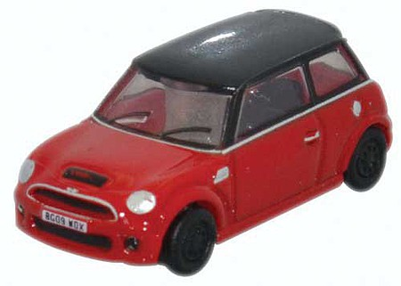 Oxford Austin Mini - Assembled Chili Red - N-Scale
