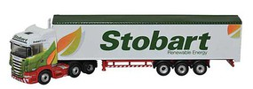 Oxford Scania Highline w/Walking Floor Trailer Assembled Stobart Biomass N-Scale