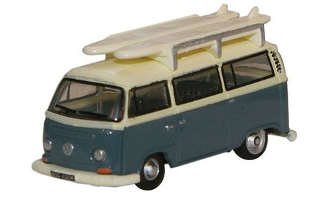 Oxford Diecast USA VW Minibus w/Surfboards - N-Scale