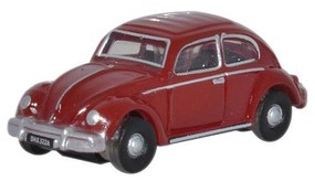 Oxford VW Beetle ruby red N-Scale