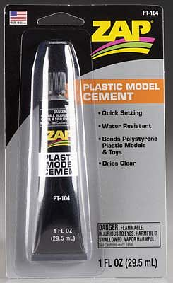 Pacer Zap Plastic Model Cement, 1oz, Carded