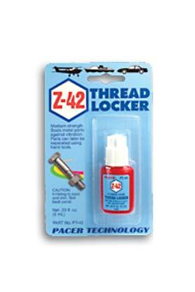 Pacer Glues (bulk of 6) Threadlocker .20 oz -- Thread Locking Compound -- #pt42