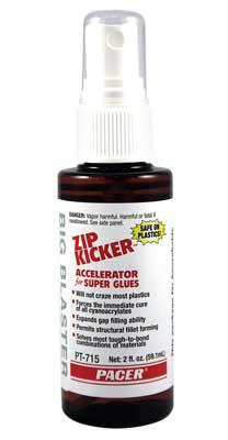 Pacer Zip Kicker Pump 2 oz CA Super Glue Accelerator #pt715