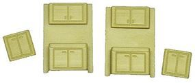 Palace Buffet & Cabinet (2 Each) HO Scale Model Railroad Accessory #5140