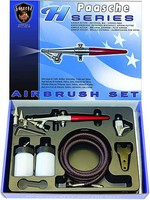 Paasche H Series Siphon Feed Single Action Airbrush Set w/3 Heads (H-3AS)