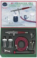 Paasche Single Action Airbrush Set Airbrush and Airbrush Set #si-set