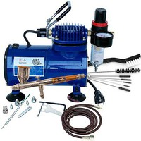 Airbrush & Compressor Package- TG3F, D500SR, & AC7