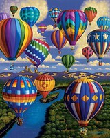 Plaid Eric Dowdle Balloon Festival Paint by Number (16x20) Paint By Number Kit #17084