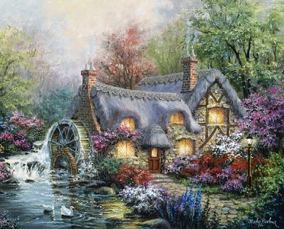 Plaid Cottage Mill (16x20) Paint By Number Kit #21707