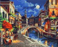 Plaid Venice at Night (16x20) Paint By Number Kit #21739