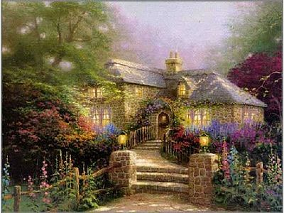 Plaid Paint By Numbers Thomas Kinkade- Hollyhock House (20''x16'') -- Paint By Number Kit -- #22031