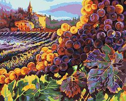 Plaid Tuscany Harvest (Vineyard Scenery) (20x16) Paint By Number Kit #22035