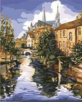 Plaid Chartres/Cathedral (River/Scene) (16x20) Paint By Number Kit #22037