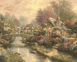 Plaid Thomas Kinkade- Lamplight Bridge (20x16) Paint By Number Kit #22040