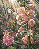 Plaid After the Rain (Humming Bird & Flowers) (16x20) Paint By Number Kit #22041