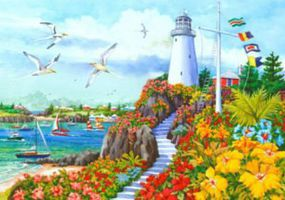 Plaid Coastal Paradise (Lighthouse)(20x16) Paint By Number Kit #22044