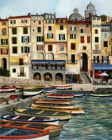 Plaid Villa View in Venice Italy(16''x20'') Paint By Number Kit #22048
