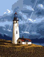 Plaid Ray of Light (Lighthouse) (8x10) Beginner Paint By Number Kit #22053