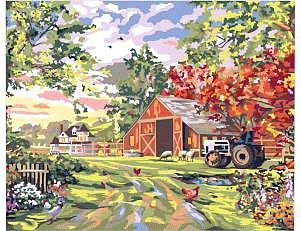 Plaid Paint By Numbers Old Farm House (20''x16'') -- Paint By Number Kit -- #22061
