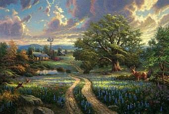 Plaid Paint By Numbers Thomas Kinkade- Country Living (16''x20'') -- Paint By Number Kit -- #22063