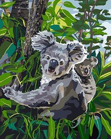 Plaid Koala Reign Paint by Number (16x20)