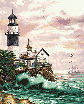 Plaid Lighthouse Point Paint by Number (16x20) Paint By Number Kit #59778