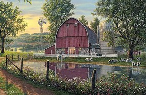 Plaid Barnyard Memories (16x20) Paint By Number Kit #60163
