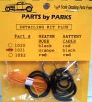 Parts-By-Parks Radiator and Orange Heater Hoses, Black Battery Cable w/Tinned Copper Wire Engine Detail #1021