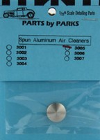 Air Cleaner 5/8 x 5/32 (Spun Aluminum) Plastic Model Vehicle Accessory 1/25 Scale #3005